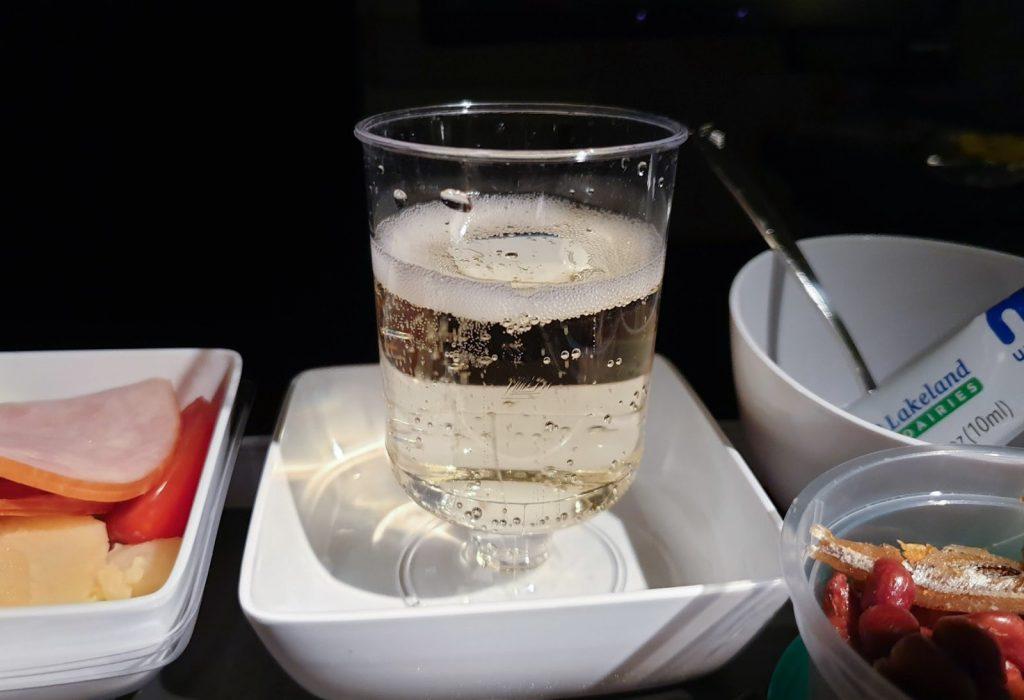 Singapore Airlines Premium Economy Champagne