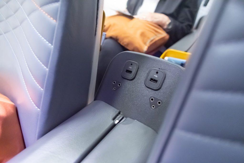 Singapore Airlines Premium Economy USB plug