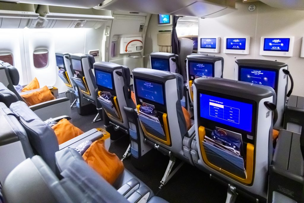 Singapore Airlines Premium Economy layout