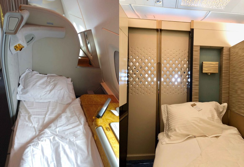 Emirates vs Etihad A380 First Class bed