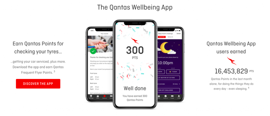Qantas Wellbeing App check tyres
