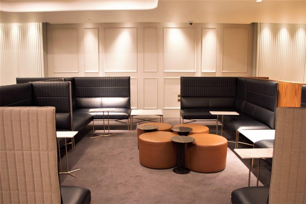 Qantas International London Lounge sofa