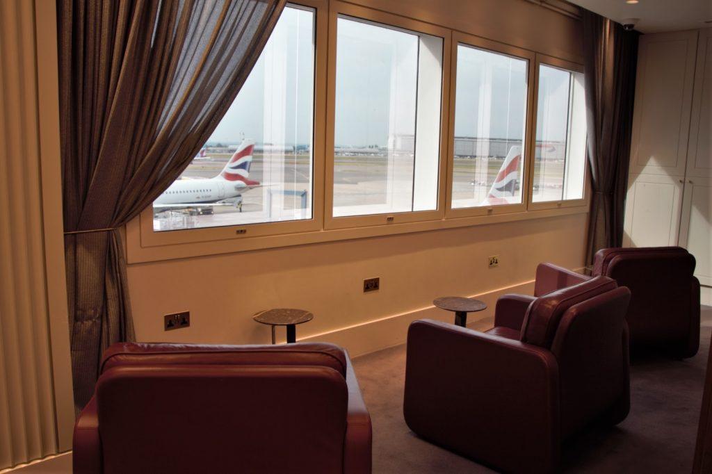 Qantas International London Lounge view