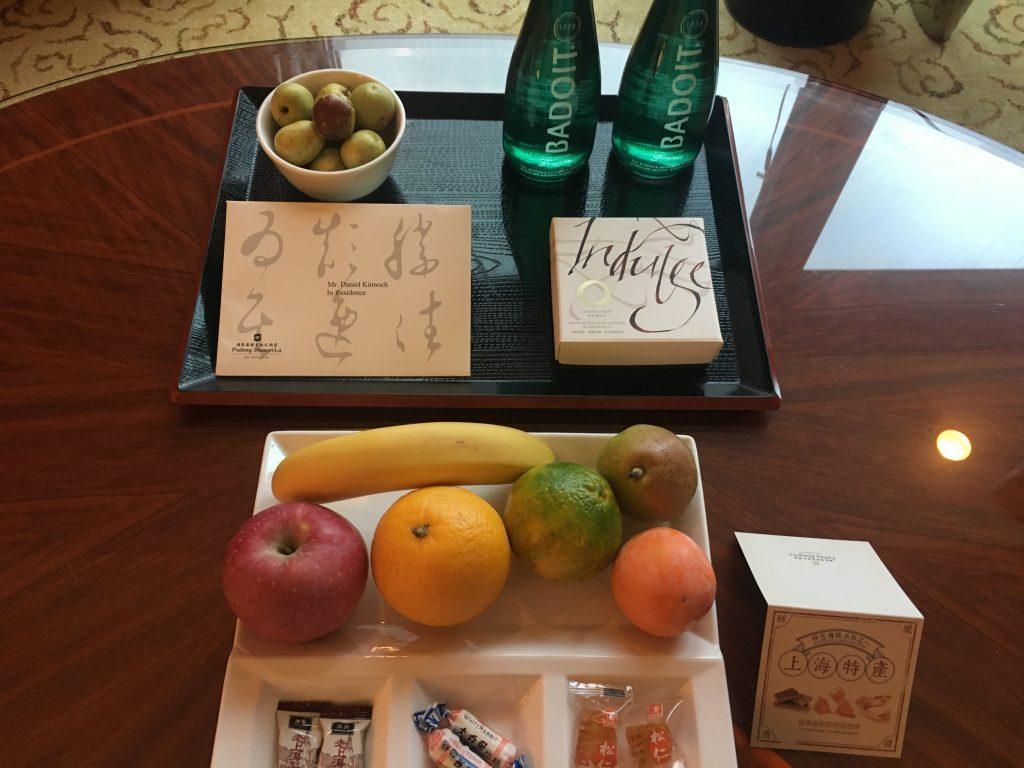 Shangri-La Pudong fruit platter