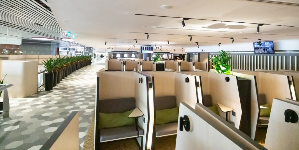 The Blossom Lounge Changi seating