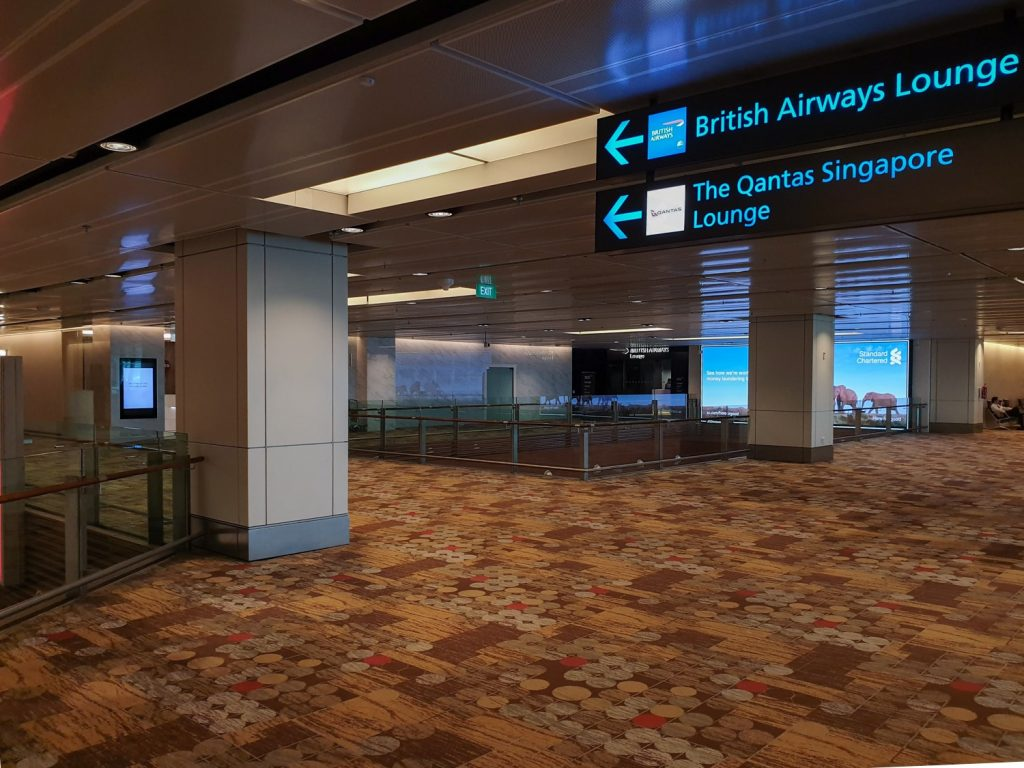 British Airways Singapore Lounge location