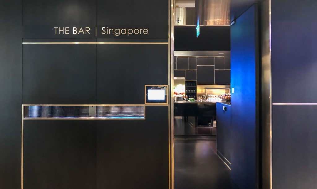 British Airways Singapore Lounge The Bar