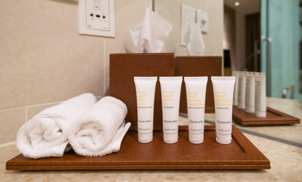 Crowne Plaza Changi Airport bathroom amenities