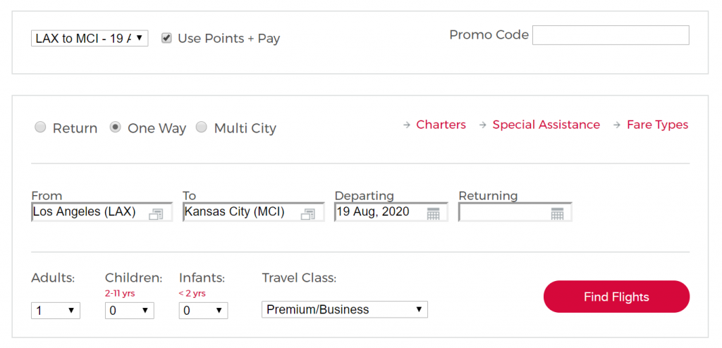Virgin Australia Points + Pay
