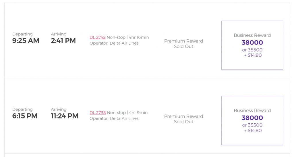 Virgin Australia booking page