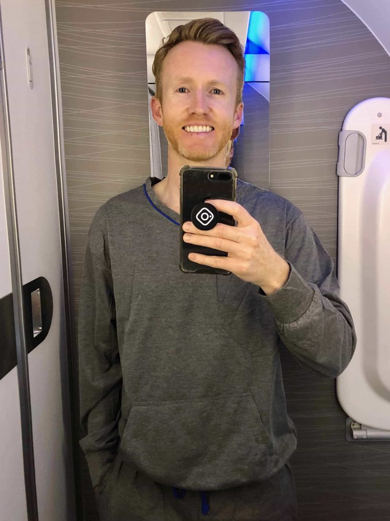 American Airlines 787-9 Business Class pyjamas