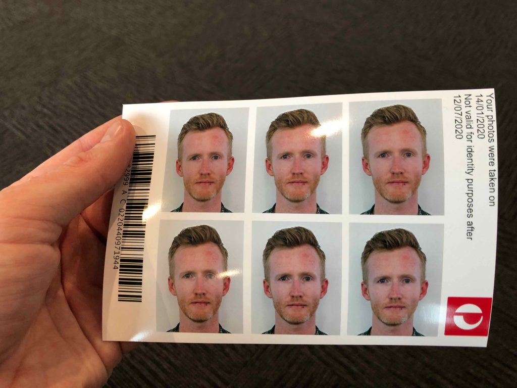 Matt's passport photo