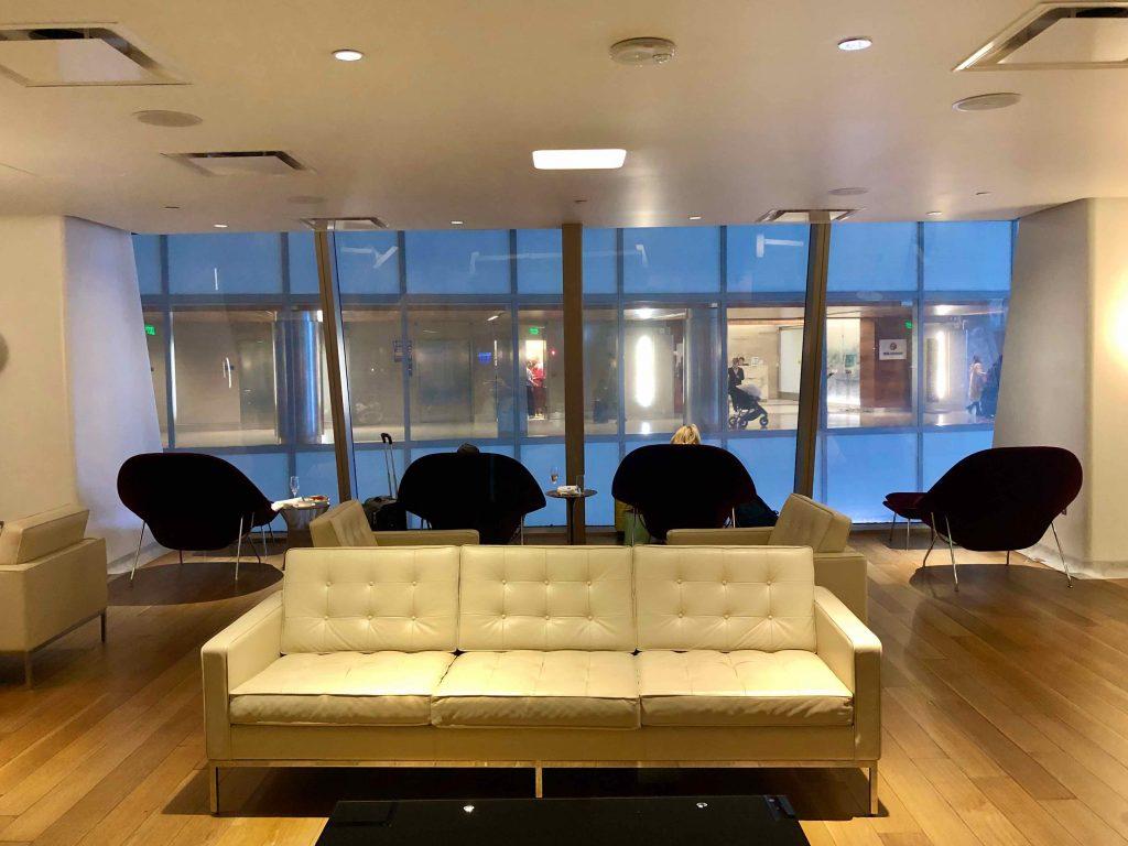 Qantas International First Lounge LAX lounge area