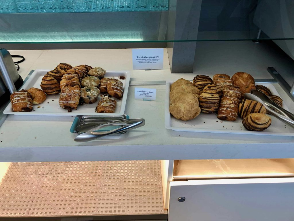American Airlines Flagship Lounge Los Angeles pastries