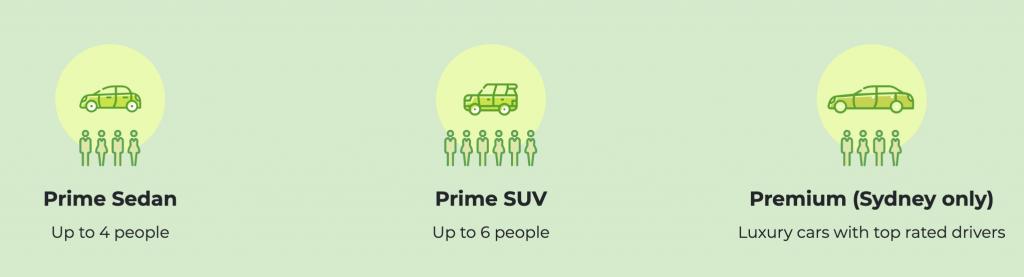Ola types of vehicles