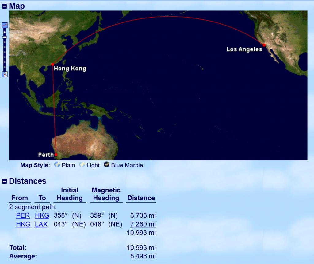 GCMAP - Perth-Hongkong-LA